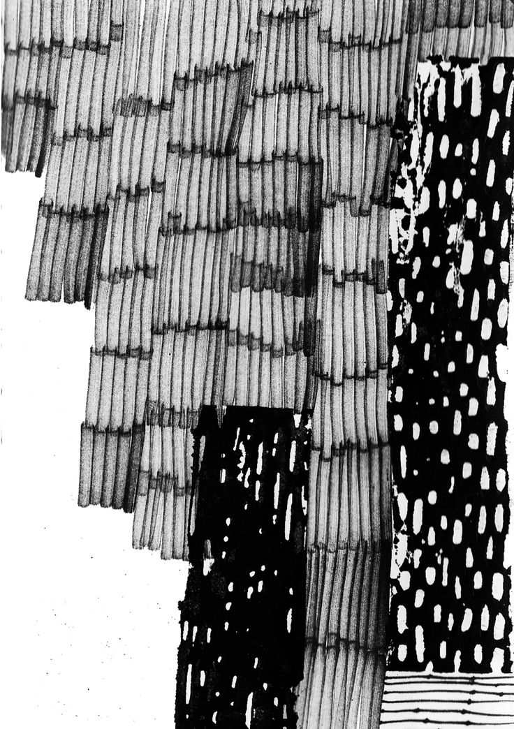 Mark Making - monochrome pattern, textile print design // Eva Bellanger