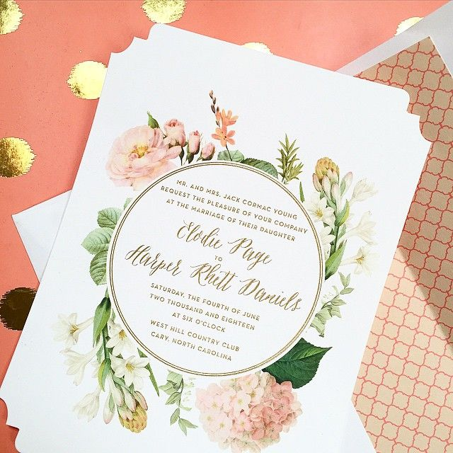 956 best wedding invitations images on Pinterest Wedding