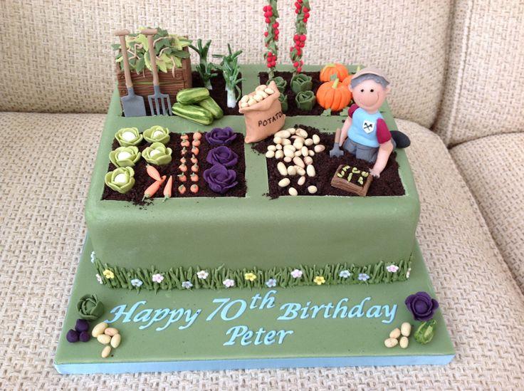 gardening 70th birthday cake - Google Search