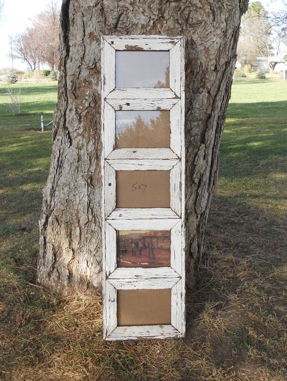 white painted barnwood picture frame 5x7 5 by