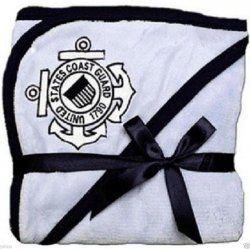 United States Coast Guard Logo Blue Fleece Baby Blanket