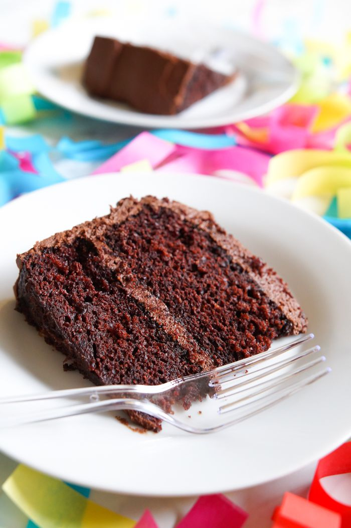 Our very favorite chocolate cake recipe...it's made with mayo! ♥