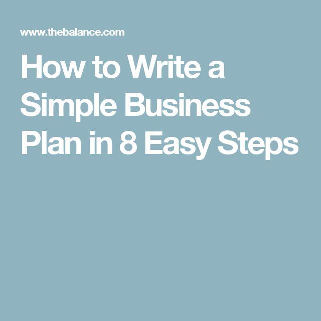 Best 25+ Simple business plan ideas on Pinterest Simple business - business plan cover letter
