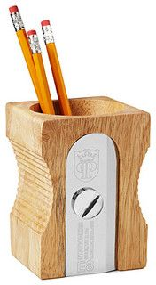Single Sharpen Pencil Holder - eclectic - desk accessories - by UncommonGoods