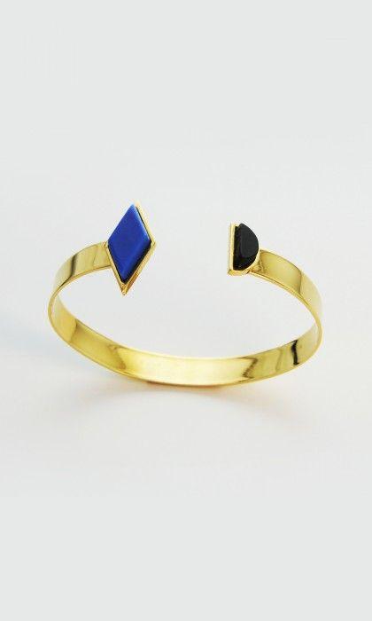 Bracelet losange et demi cercle résine par ARGUMENT