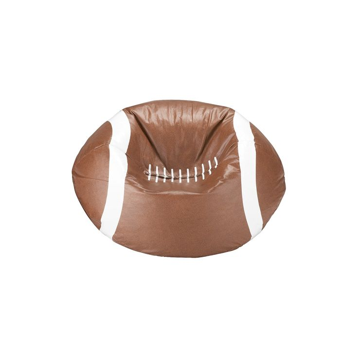 Football Bean Bag Chair Matte Brown - Ace Bayou, Brown/White