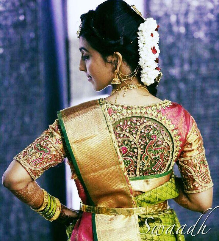netembroidery  embroideryblouse  bridalblouse  swaadhbyswapnaareddy  deerembroidery  silkblouse  18 October 2016