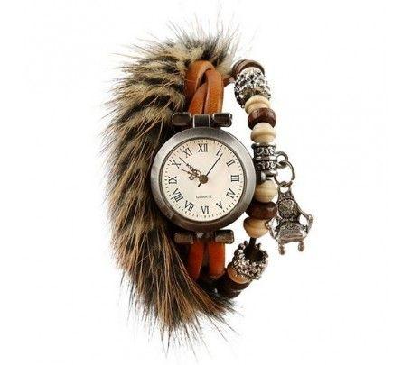 Zegarek z futrem
