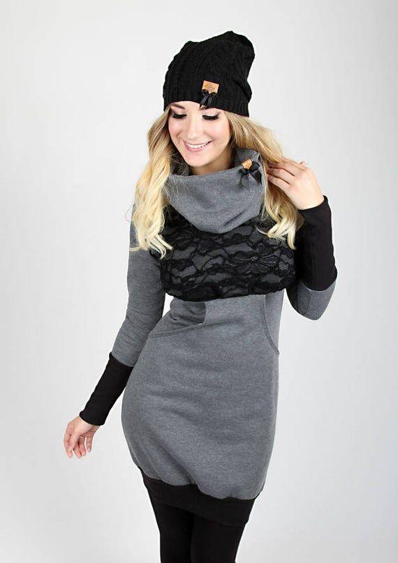 meko leny dress womens grey black lace long etsy sweat