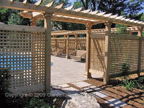 Pool Privacy Ideas pool privacy fence with lattice and an arbor gate Needing Some More Privacy Around The Pooldeck Area Outside Would Love