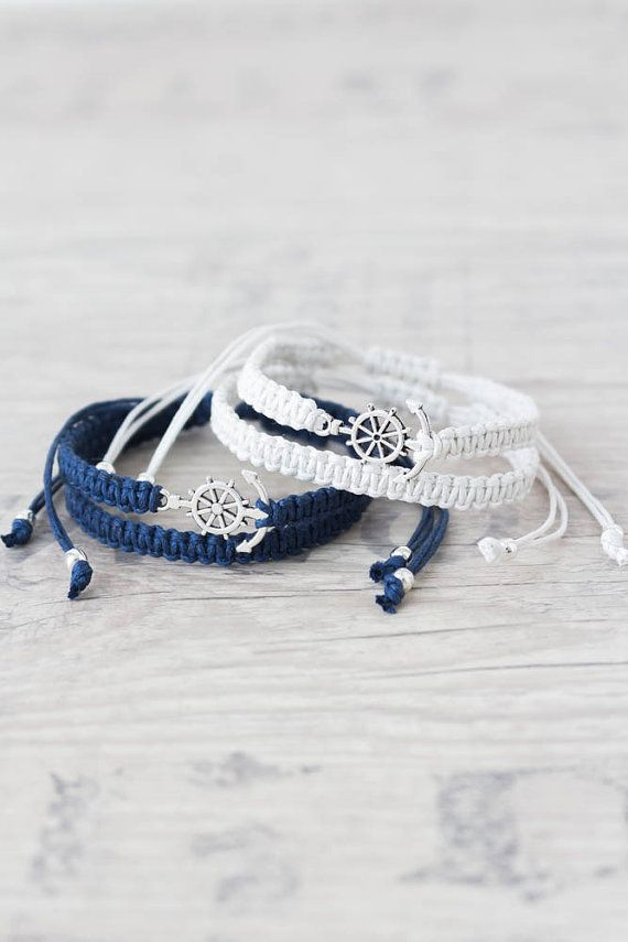 Anchor bracelet for men and women Matching couple bracelets
