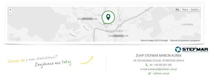 ZUHP STEFMAR MARCIN KUREK 34-730 MSZANA DOLNA, STAROWIEJSKA 6 tel. +48 500 261 595 e-mail mskawski@stefmar.com.pl web stefmar.com.pl
