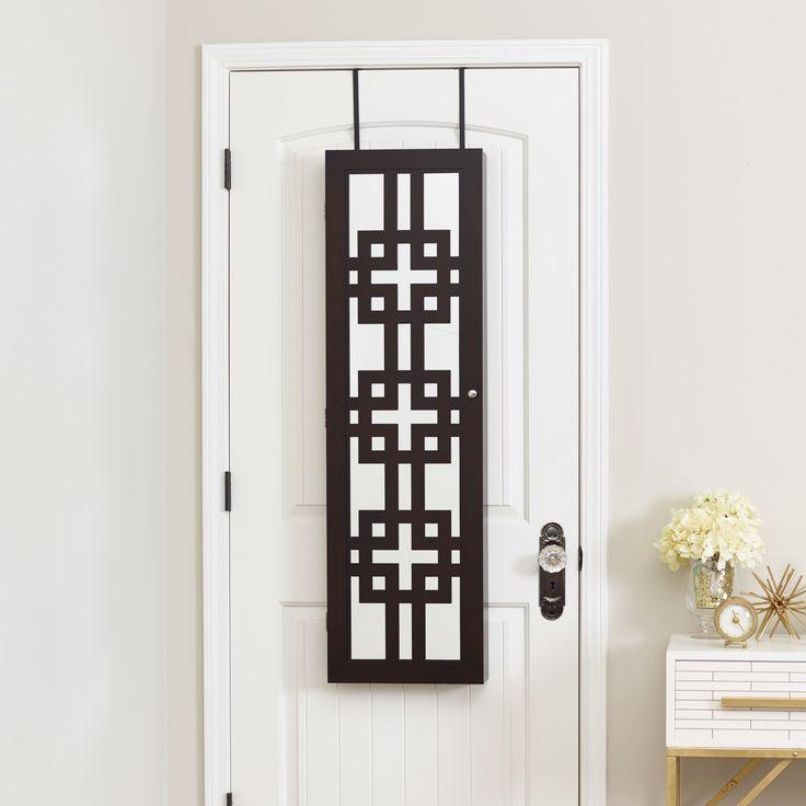 Deluxe Designer Over the Door Jewelry Armoire with Mirror