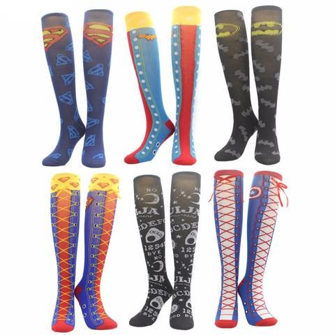 Super Funky COSPLAY Superhero Knee High Tube Socks (Multiple Options)