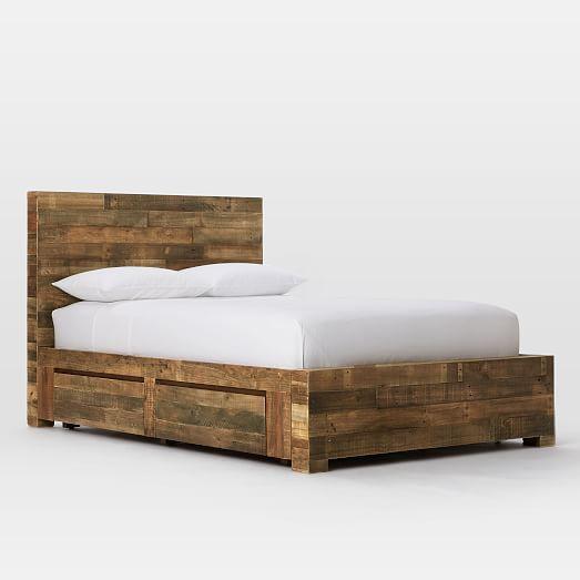 ... Slaapkamermeubilair, Klein Tweepersoons Bed Raamwerk en Knoestige