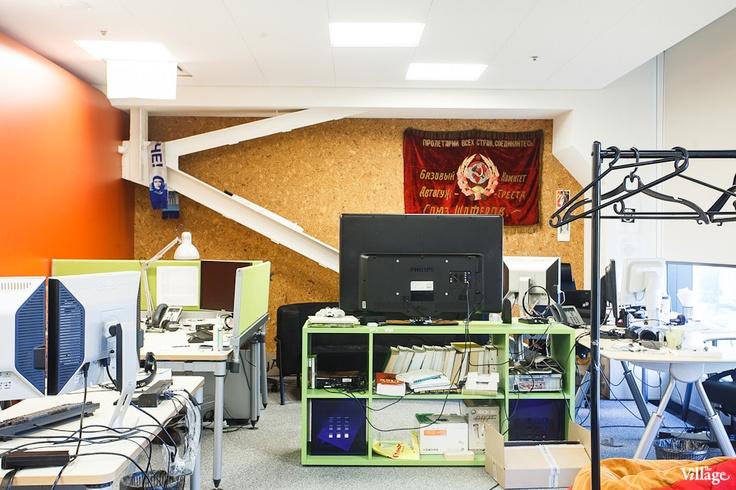 Пробковая стена. Офис Яндекса в Санкт-Петербурге.