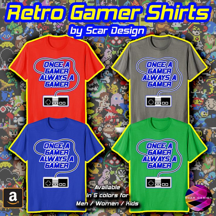 Cool #Gamer Tee. Once a Gamer Always a Gamer Cool Retro Gaming T-Shirt. This #Cool #Retro Nintendo Controller Gaming Shirt is ideal for Geek Gamers who never stopped playing Videogames. For Male, Female, Kids, Birthday presents and all gift giving occasions. Buy it from my #Amazon store. #geek #gamer #gaming #retro #retrogamer #8bit #gamertee #shirt #tee #shirts #tees #tshirts #scardesign #style #clothing #kids #family #gifts #fashion #online #shopping #39 #streetwear #nerd