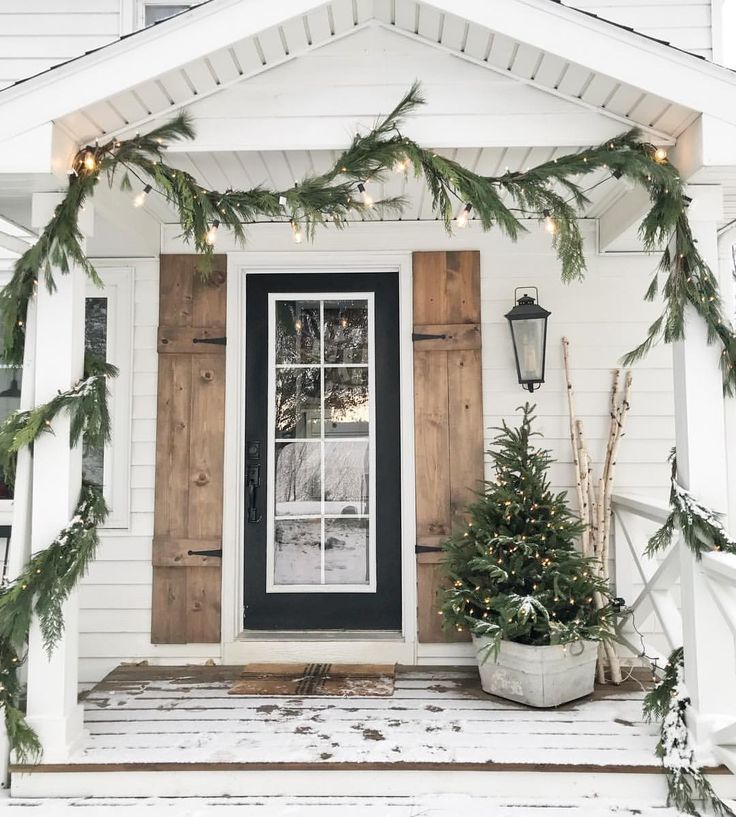 Christmas Entry Farmhouse Modern