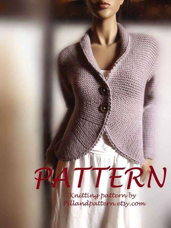 Women's blazer jacket knitting pattern knit by PillandPattern