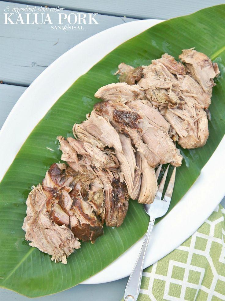 3-Ingredient Succulent Slow Cooker Kaula Pork