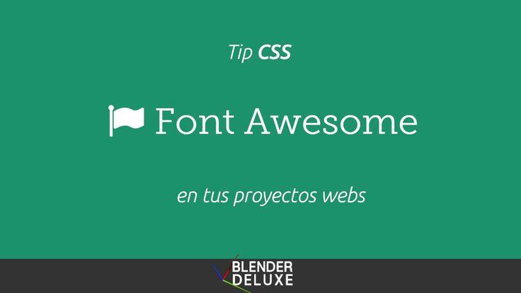 Como utilizar Font Awesome en tus proyectos webs