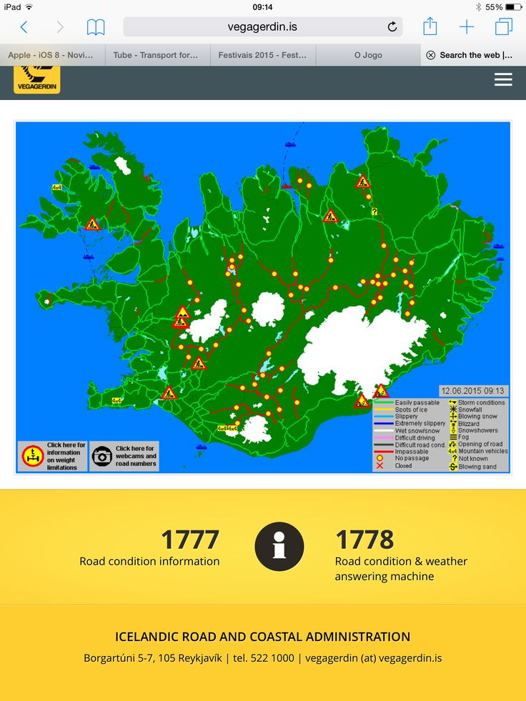 Roads in Iceland...