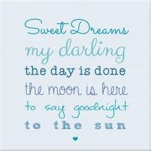 kinderkamer schilderij sweet dreams pastel blauw