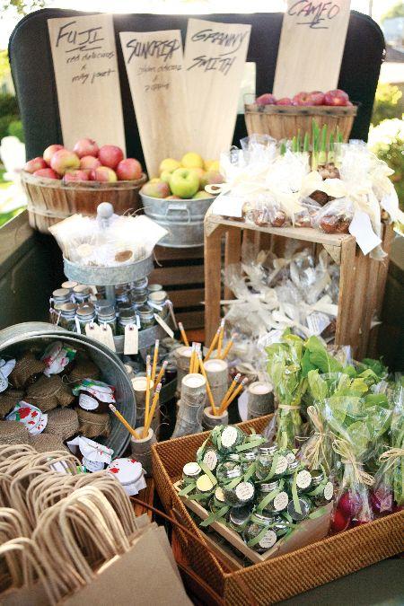 Wedding Favors and Favor Displays