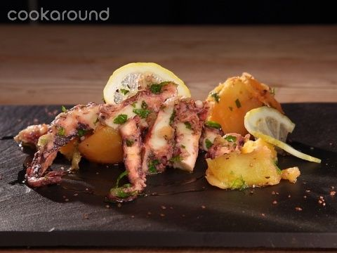 Polpo con patate   Cookaround