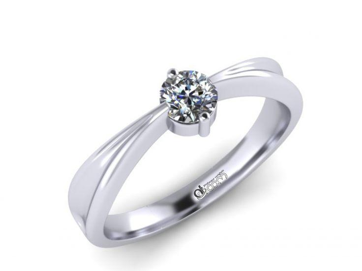 Inel de logodna ATCOM Lux cu diamant JOSEPH aur alb