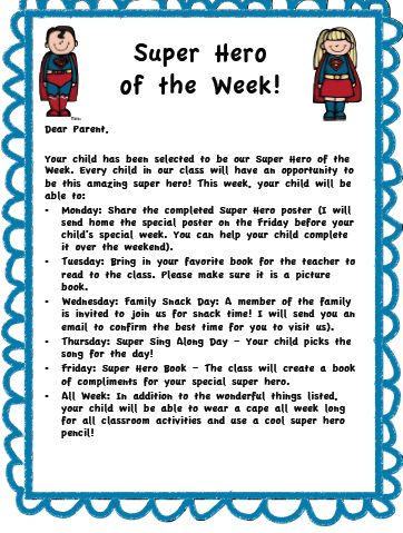 Super Hero of the Week Freebie