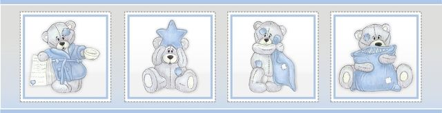 Scruffy Bear nursery decor - wallpaper borders (pasted) 4.8m X 15cm sets of 2. Exclusively manufactured in South Africa. orders@borderboutique.co.za, we deliver door to door.