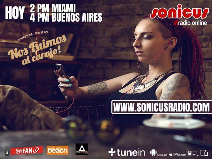 Ya llegamos en vivo!! la tarde comienza en la radio!! www.sonicusradio.com #radio #online #music #musica #pop #hits #top  #followme #miami #latinos #hot #party #trendy #artistas #ranking #chart #show  #fashiongram #musicislife #ilovemusic #losangeles #newyork #celebrity  #dominicana #argentina  #tunein