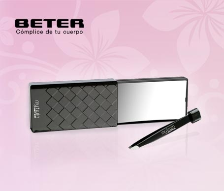 Incorpora un espejo de aumento x10 y una pinza BETER. $6€