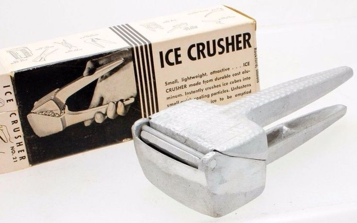 IN THE BOX BELVIDERE ALUMINUM COMPANIES ALUMINUM HAND HELD ICE CRUSHER VINTAGE