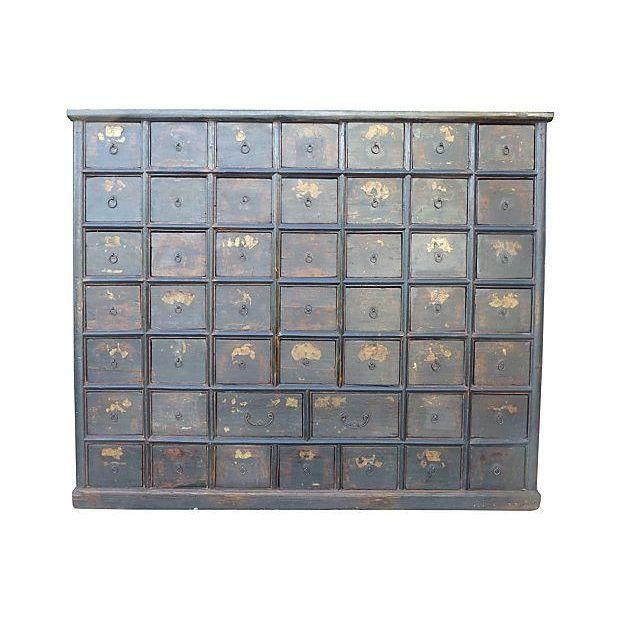 Image of Large Antique Chinese Apothecary Cabinet Chest