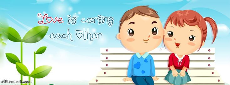 Love Caring Each Other Facebook Timeline Covers - facebook love cover photos - anime couple covers - anime covers - love caring each other - cute love covers - fb timeline photos - topcoverpix - Collection of awesome facebook covers❤.