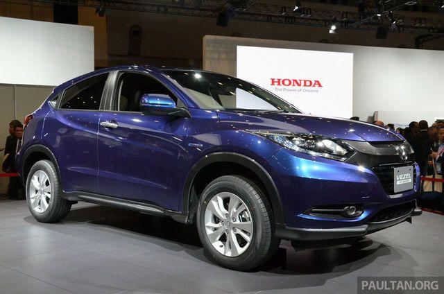 Honda Vezel - coupe. build using blue print of honda Jazz 2014.