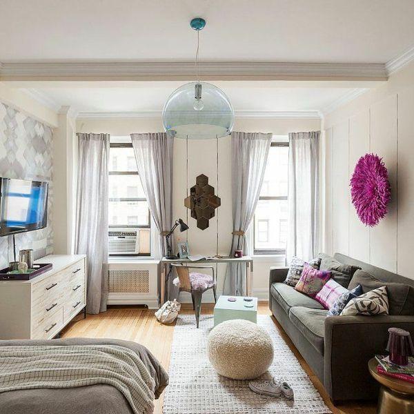 die besten 25+ 1 zimmer wohnung ideen auf pinterest - Einrichtungsideen Einraumwohnung