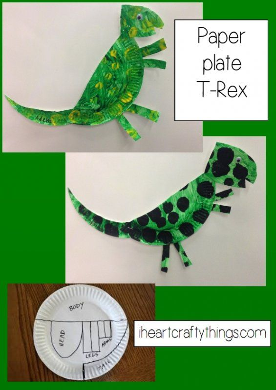 T-Rex paper plate craft