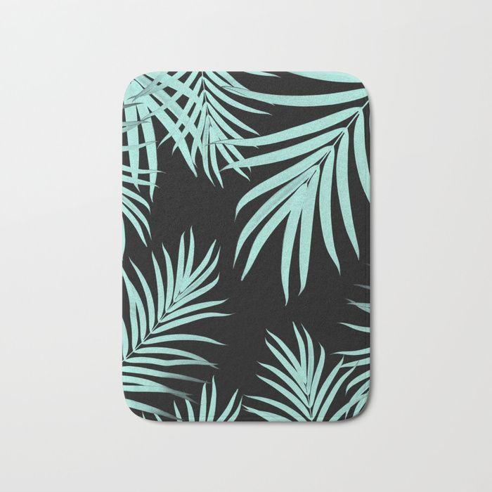 Palm Leaves Pattern Summer Vibes #6 #tropical #decor #art #society6 Bath Mat by anitabellajantz | Society6