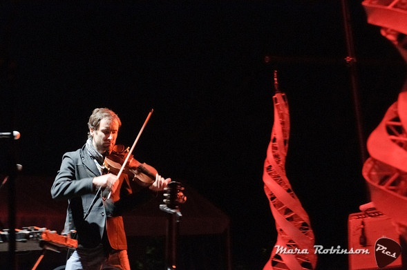 Andrew Bird at Nelsonville by Mara Robinson. What a master musician and performer. That was a wonderful concert to behold.