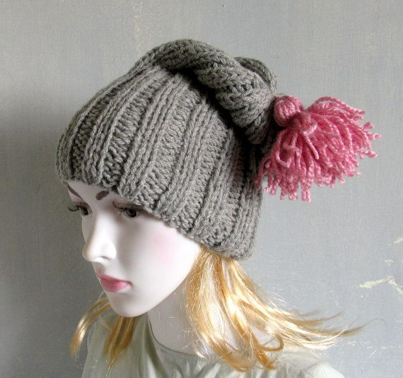 Chunky knit beanie wool hat Chunky knit hat COZY WOODS HAT