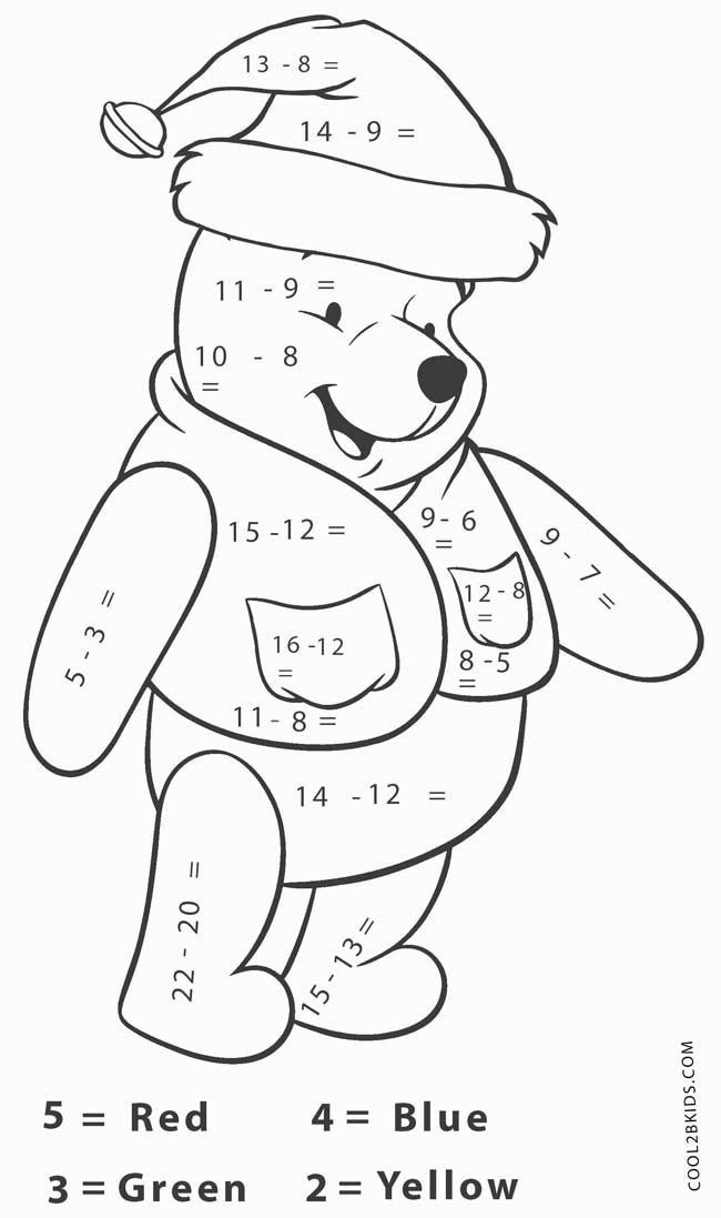Subtraction Worksheets Math Coloring Worksheets Math Coloring Activities For 1st Graders