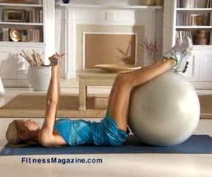 Balance Ball workout. Going to try this out myself - did the leg one the other day and ouch I am sore!