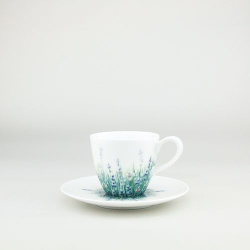 Lalala Blanc,  Espresso-cup 100ml handthrown from the purest white Jingdezhen Porcelain then handpainted by our team of dedicated artists  #Teacup #coffeecup #Espresso-cup  by Spherebol