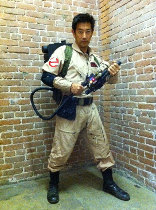 """From Grant's Twitter: """"Who ya gonna call?? My Ghostbusters outfit from last weekend's Bill Murray-themed party.""""    Great photo or greatest photo?"""