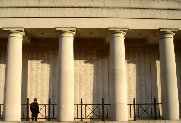 The Menin Gate in Ypres, Belgium, is a memorial to Commonwealth soldiers killed in the Ypres Salient of World War I. Every evening at 8pm, the road is closed and a bugler plays the Last Post. The ceremony has been conducted every night since 1928 (except during the German occupation of WWII).