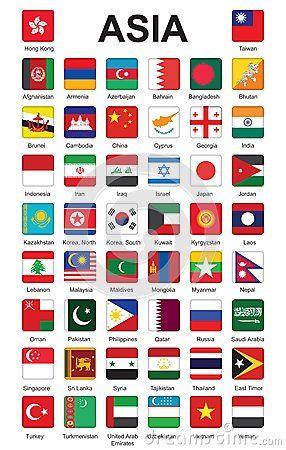 flags of Asia by Romantiche, via Dreamstime