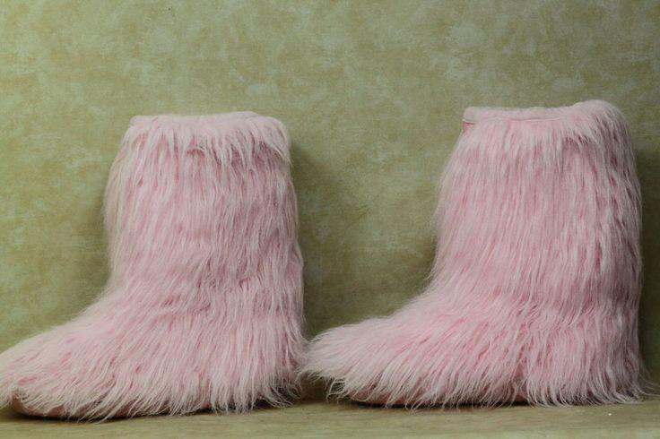 Buffalo Moonboots Fellstiefel Schneestiefel Pink Stylish Gr. 40/41